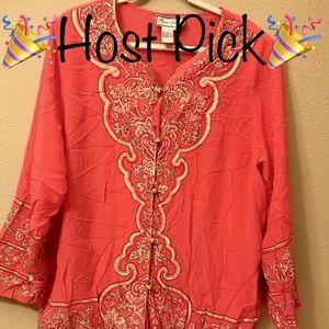 🎉HP🎉 Diane Gilman Asian Inspired 💯%Silk